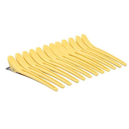 Set 12 kẹp nhựa tạo kiểu tóc chuyên dụng cho salon