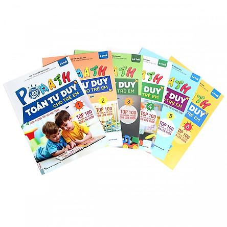 Combo Trọn Bộ Sách PoMath - Toán Tư Duy Cho Trẻ Em 4-6 Tuổi (6 cuốn)  (Tặng kèm iring siêu dễ thương s2)