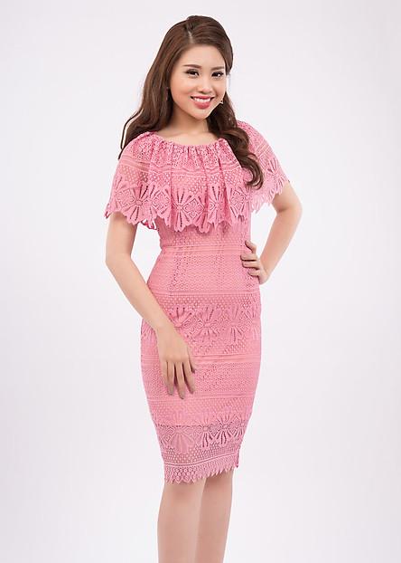 Đầm Body Phối Cổ Bèo - Zerasy Fashion