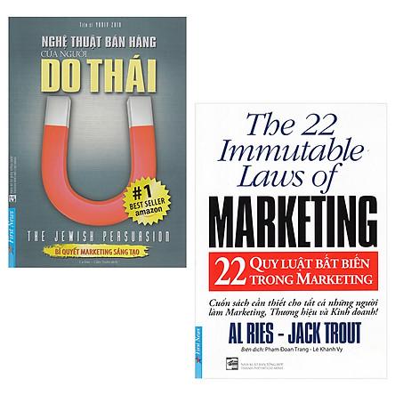 Combo Sách Marketing - Bán Hàng: Nghệ Thuật Bán Hàng Của Người Do Thái, 22 Quy Luật Bất Biến Trong Marketing