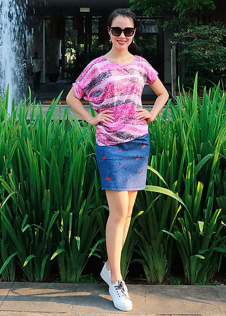 Chân váy Jeans Narsis B9001