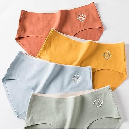 Hộp 4 quần lót nữ y tế kháng khuẩn cotton cao cấp không đường may chống hằn chống viêm nhiễm
