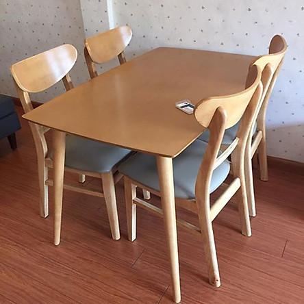Bộ bàn ăn mango 4 ghế (vàng)