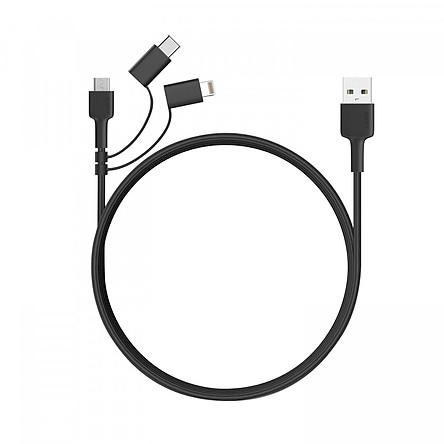 Dây Cáp Sạc 3 Trong 1 MicroUSB / USB Type-C / Lightning Chuẩn MFI Aukey CB-BAL5 1.2m - Hàng Chính Hãng