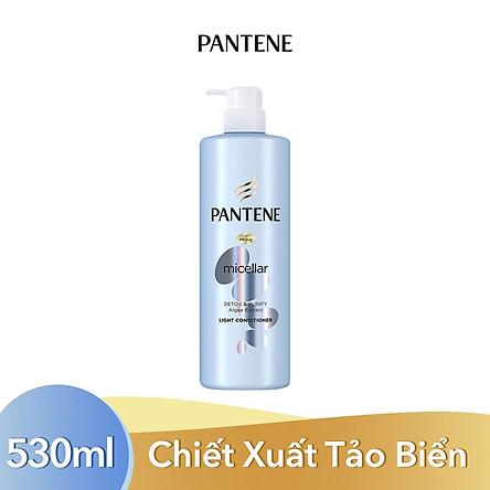 Dầu Xả Pantene Pro-V Micellar Làm Sạch Sâu Chiết xuất Tảo biển 530 ml