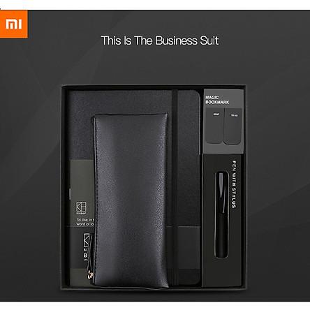 Bộ quà tặng văn phòng Xiaomi Kinbor, bút, sổ tay, dấu trang, hộp bút chì,