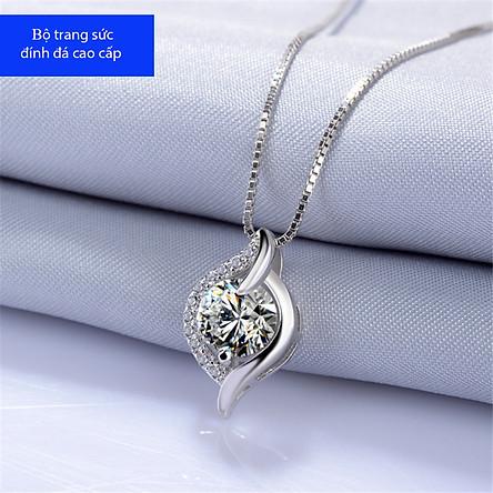 Dây Chuyền Nữ Bạc Đính Đá Diamond Cao Cấp - DC0000009 - Vòng Cổ Nữ S925 Họa Tiết Sang Chảnh, Quý Phái