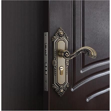Khóa cửa cổ điển, sang trọng dùng cho cửa phòng, cửa chính KD01