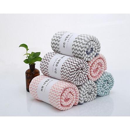 Combo 5 khăn tắm, gội đầu lông cừu Hàn Quốc cao cấp
