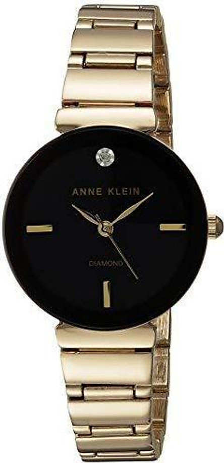 Đồng hồ nữ Anne Klein Women's Diamond-Accented Bracelet Watch - Gold