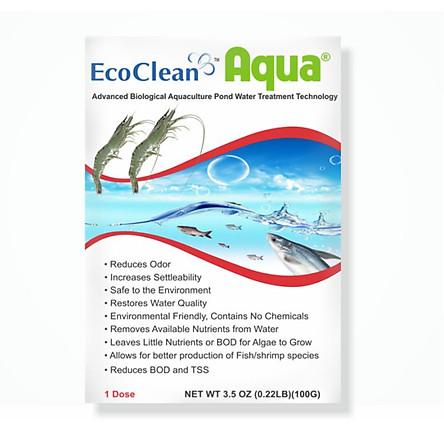 EcoClean Aqua - Men Vi Sinh Xử Lý Nước Ao Nuôi Tôm, Cá - Gói 100g
