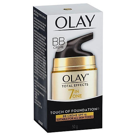 Olay Total Effects 7 in One Touch of Foundation Face Cream BB Crème SPF 15 50g
