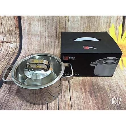 Nồi inox 304 Fivestar 3 đáy bếp từ nắp kính (16cm ), tặng 5 muỗng ăn