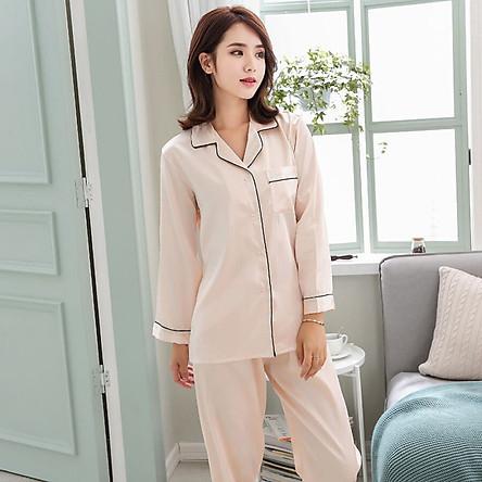 Spring and Autumn Ice Silk Pajamas Sets Couple Silk Long Sleeve Soft Home Service Suit Couple Family Pajamas Set
