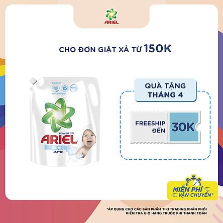 Nước Giặt Ariel Dịu Nhẹ Cho Da Nhạy Cảm Dạng Túi 3.25kg - Mềm mại ngát hương - An toàn cho da em bé