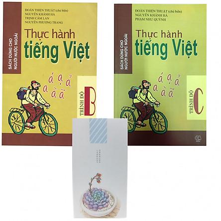 Trọn bộ TIẾNG VIỆT THỰC HÀNH TRÌNH ĐỘ B C tặng kèm sổ dài (dành cho người nước ngoài học Tiếng Việt)