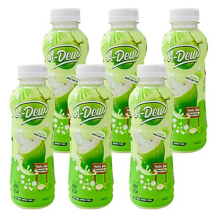 Nước Trái Cây Dừa Thạch Dừa A-Dew 450ml (Lốc 6 chai)