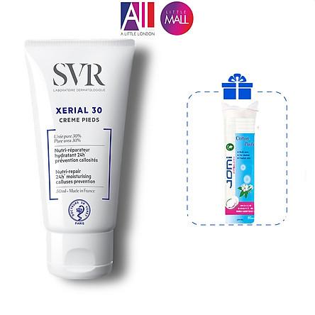 Kem dưỡng ẩm cho da chân khô và nứt nẻ SVR xerial 30 creme pieds 50ml TẶNG bông tẩy trang Jomi (Nhập khẩu)