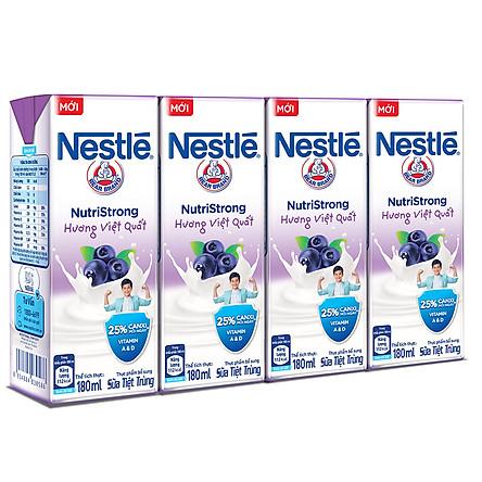 Lốc 4 Hộp Sữa Nước Nestlé Uống Liền Hương Việt Quất (180ml x 4)