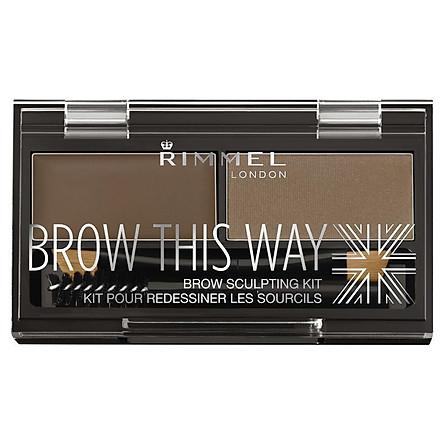 Rimmel Brow This Way Eyebrow Powder Kit 002 Mid Brown
