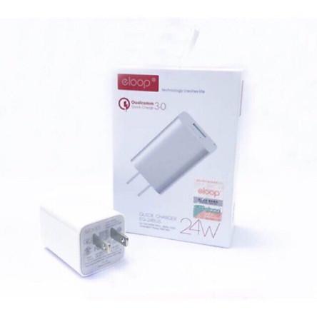 Củ sạc nhanh Smartphone, máy tính bảng Eloop EQ-24BUS 3.0 / 24W - Hàng chính hãng