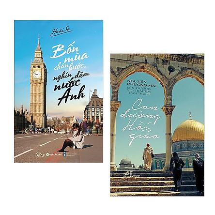 Combo Bốn Mùa Chân Bước, Nghìn Dặm Nước Anh + Con Đường Hồi Giáo (Tái Bản) - Tặng Bookmark Happy Life