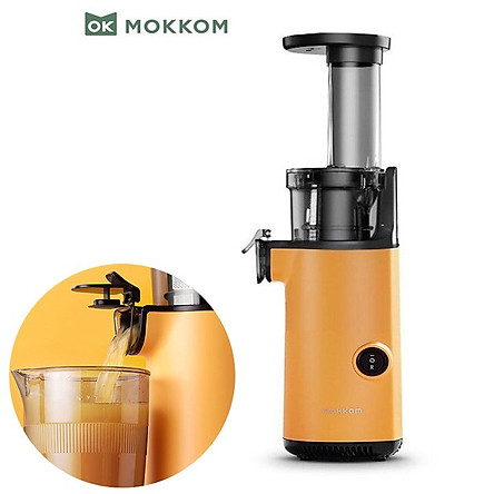Máy ép trái cây tốc độ chậm cầm tay thương hiệu cao cấp Mokkom MK-SJ001 - Công suất: 130W - Chất liệu: Tritan, ABS, Inox 304 - 2 màu: Xanh và Vàng - Hàng Nhập Khẩu