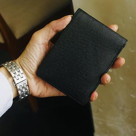 Ví/ Bóp Dành cho Nam Da Bò Cao Cấp, Thiết Kế Tinh Tế, Thời Trang - ORCO (Kích thước 8.5 cm x 12 cm) - Màu Đen