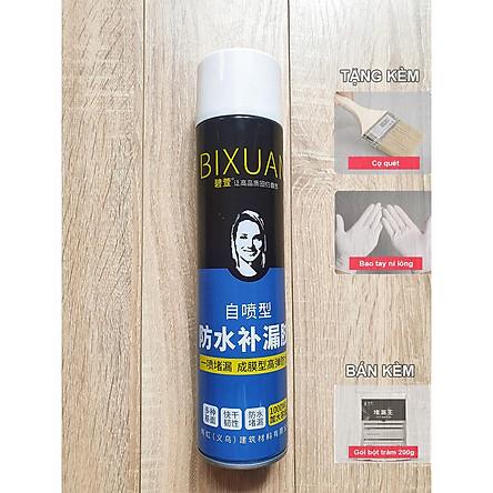 1000ml - Bình xịt sơn chống thấm trần nhà Bixuan dung tích lớn, sơn chống thấm chống dột tường công nghệ Thụy Sĩ