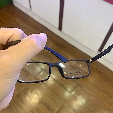 Gọng kính cận nhựa dẻo mắt vuông siêu nhẹ dễ đeo phù hợp mọi khuôn mặt