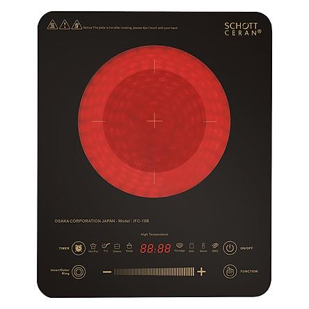 Bếp Điện Quang Cảm Ứng Osaka IFC19B (2200W) - Đen - Hàng Chính Hãng