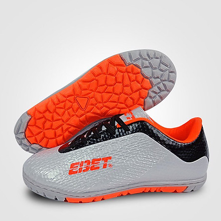 Giày Đá Bóng Trẻ Em Động Lực EBET 6302 (màu bạc cam)