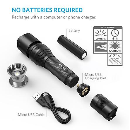 Đèn pin Anker LC90 Flashlight (900lm) - Hàng Nhập Khẩu