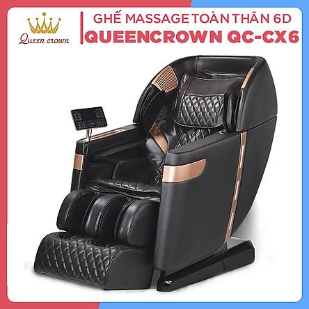 Ghế Massage QUEEN CROWN 6D QC-CX6 - Hàng Chính Hãng