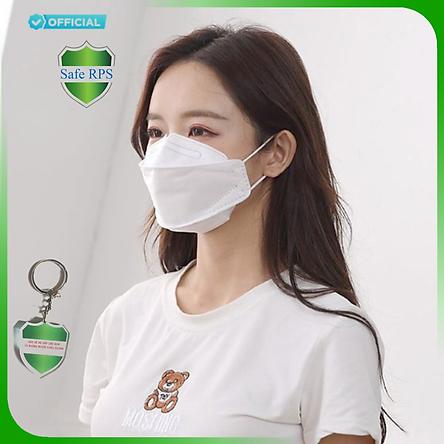 2 Hộp 20 cái Khẩu trang 4D Hello Mask cao cấp bảo vệ hô hấp kháng khuẩn , chống bụi siêu mịn PM2.5 ; tặng 1 móc treo khóa mica