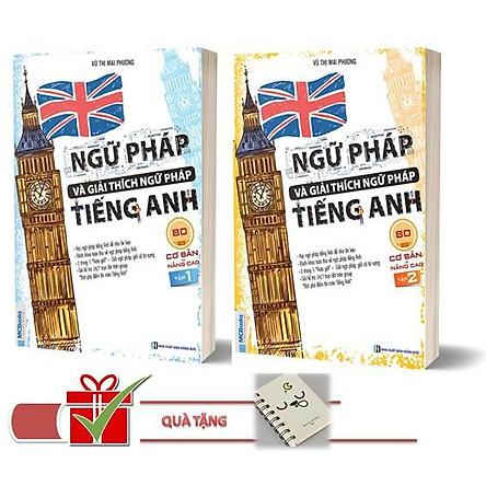 Combo Ngữ Pháp và Giải Thích Ngữ Pháp Tiếng Anh Cơ Bản và Nâng Cao 80/20 Tập 1 2 ( tặng sổ tay +bookmark ngẫu nhiên)