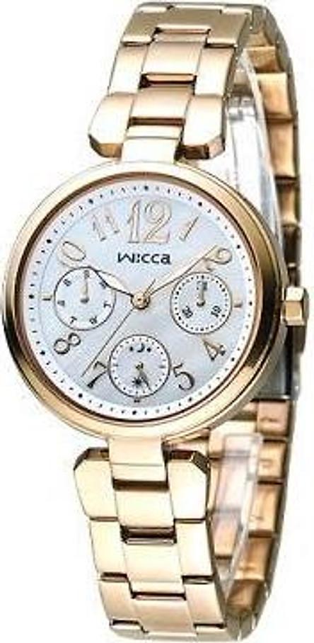 Đồng hồ đeo tay nữ thời thượng màu vàng CITIZEN Wicca - Rose Gold( BH7-423-11)