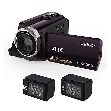 Máy Quay Kết Nối Wifi Andoer HDV-534K Kèm Sạc Pin NP-FV5 Plus (4K) (1080P FHD) (48MP) (3.7V) (2500mAh)
