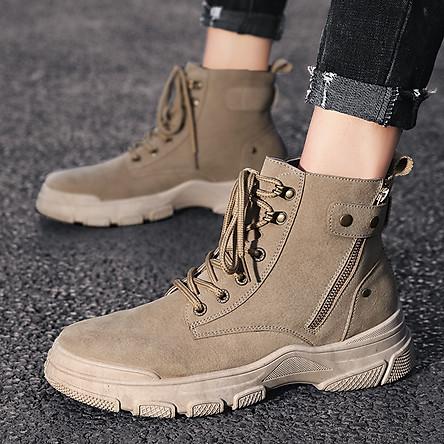 Giày Nam  Giày Sneaker Thể Thao Nam Cổ Cao Phong Cách Hàn Quốc G33