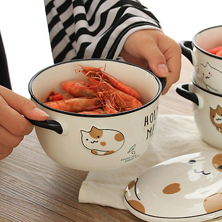 Bát úp mì Mèo dễ thương - 750ml