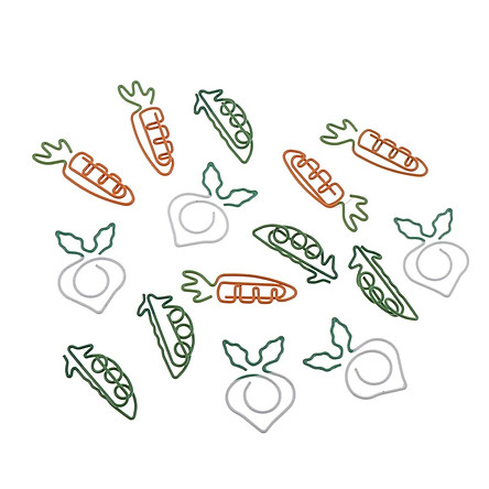 15 Piece Cute Paper Clip Metal Bookmark Office  Stationery Supply Kids