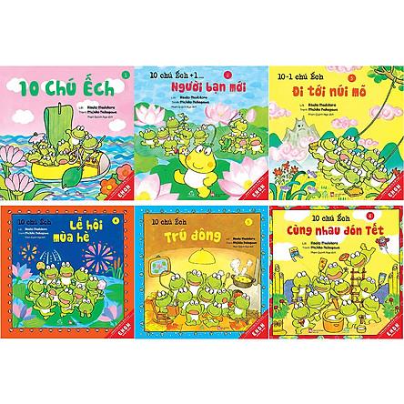 Combo Ehon 1 (6 Quyển)- 10 Chú Ếch (Tập 1 - Tập 6)