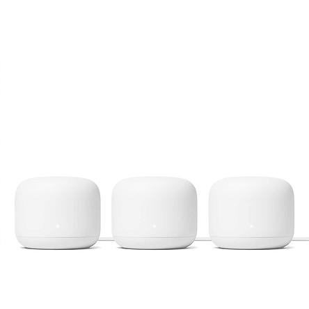 Bộ phát tín hiệu WIFI thông minh Google Nest Wifi 3 Pack - Hàng nhập khẩu