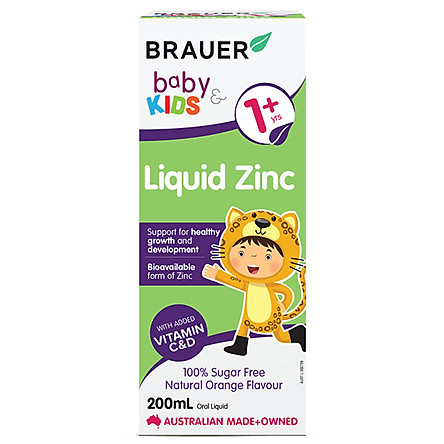 Bổ sung kẽm Brauer cho bé trên 1 tuổi (200ml)