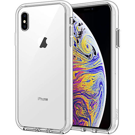 Ốp Lưng Kính Cường Lực Trong Suốt, Viền Máy Dẻo Dành Cho Iphone X / XS/ XS Max / XR /  7 8 PLus Hàng Chính Hãng Helios