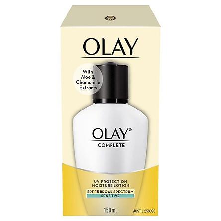 Olay Complete UV Protection Moisturiser Lotion Sensitive SPF15 150mL