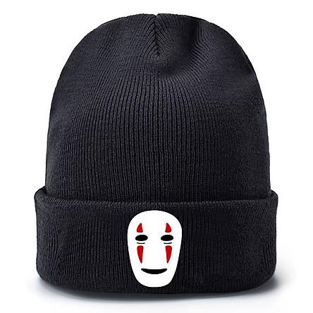 Mũ len Vô diện anime nón Beanie đội đầu dạng tròn