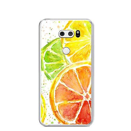 Ốp lưng dẻo cho điện thoại LG V30 - 0229 ORANGES - Hàng Chính Hãng