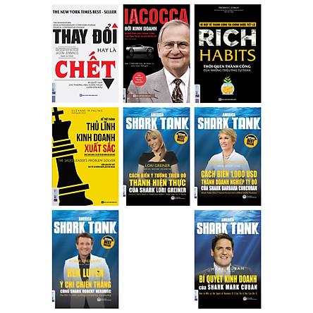 combo bộ sách dành cho doanh nhân và doanh nghiệp(tặng cuốn Thành công trong kinh doanh và cuộc sống cùng Shark Robert Herjavec kèm bookmark kim loại mạ vàng)