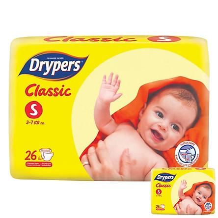 Tã Dán Drypers Classic Gói Trung S26 (26 Miếng) + Tặng 1 Gói Cùng Loại